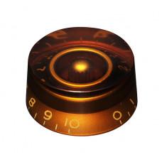 Ручка потенциометра Hosco, под метрический шток, янтарный KA-110, 1шт