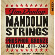 DMP1140 Комплект струн для мандолины, фосф.бронза, Medium, 11-40, Dunlop