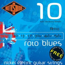 Струны Rotosound Nickel Nickel Light Top/Heavy 10-52 (RH10)