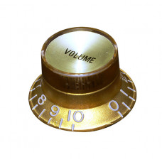 Ручка потенциометра громкости Hosco, под метрический шток, золото KG-130V, 1шт