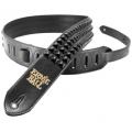 Ремень для гитары Ernie Ball Stealth Stud чёрный, кожа (P04062)