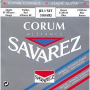500ARJ Alliance Corum Комплект струн для классической гитары, смешанное натяжение, посеребр, Savarez