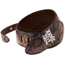 Ремень для гитары Ernie Ball Black Python чёрный, кожа (P04085)