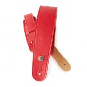 20GL02 Slim Garment Ремень для гитары, кожа, красный, Planet Waves
