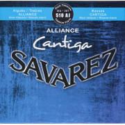 510AJ Alliance Cantiga Комплект струн для классической гитары, сильное натяжение, посеребр, Savarez