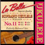 11-SOPRANO Комплект струн для укулеле сопрано, нейлон, La Bella