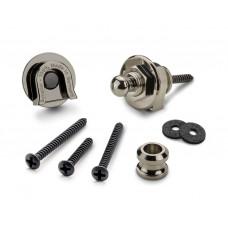 14010601 Security Lock Крепление для ремня с блокировкой, для гитары, рутений, Schaller