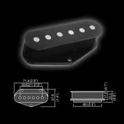 BT-101 Звукосниматель магнитный, сингл, бриджевый, черный, Belcat
