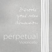 333020 Perpetual Комплект струн для виолончели размером 4/4, среднее натяжение, Pirastro