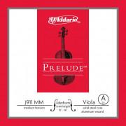 J911-MM Prelude Отдельная струна Ля/A для альта среднего размера, среднее натяжение, D'Addario