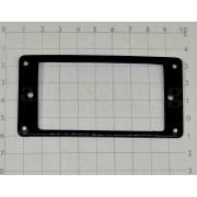 Рамка звукоснимателя Hosco, низкая (нек), под Arch-top, изогнутая, черная (MRA-FB)