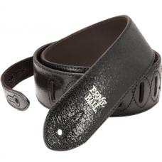 Ремень для гитары Ernie Ball Black Foil посеребрёно-чёрный, кожа (P04088)