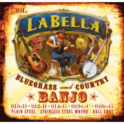730L-BE Комплект струн для 5-струнного банджо, шарик, La Bella