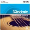 Струны D'Addario Phosphor Bronze 12-String Acoustic 10-47 (EJ38)