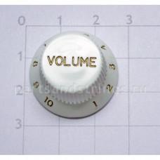 Ручка регулировки громкости GF (Guitar Factory), Белый  KW-240T/V, 1шт