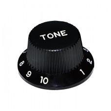 Ручка потенциометра тона Hosco, под дюймовый шток, черный KB-240TI, 1шт