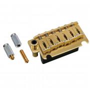 Бридж тремоло Gotoh 510T-FE1, FST сустейн блок, стальные седла, Золото