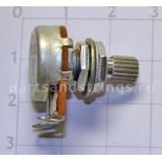 Потенциометр Hosco-GF B25K линейный, для акт. электроники, короткий шток, mini