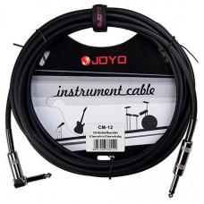Инструментальный кабель JOYO, Jack 6.3 с угловым коннектором Фиолетовый, 4,5м (CM-12)