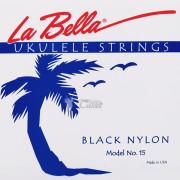 15-BLACK Комплект струн для укулеле La Bella