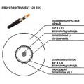 Кабель инструментальный Shnoor, черный, на отрез. Цена за 1 метр. (Instrument124BLK)