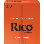 RIA1030 Rico Трости для саксофона сопрано, размер 3.0, 10шт, Rico