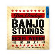 DJN1023 Комплект струн для 5-струнного банджо, никель, 10-23, Dunlop