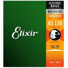 Струны Elixir Nanoweb 5-String Bass 45-130 (14202)