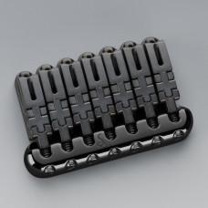 12300400 Hannes 7 Бридж (струнодержатель) для 7-струнной гитары, черный хром, Schaller