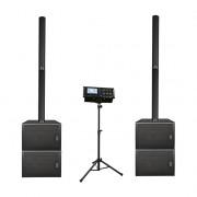DLS122 Комплект акустических систем, сабвуфер, микшер, Soundking