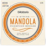 EJ76 Комплект струн для мандолы, фосфорная бронза, 15-52, D'Addario