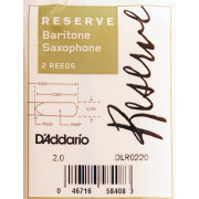 DLR0220 Reserve Трости для саксофона баритон, размер 2.0, 2шт, Rico