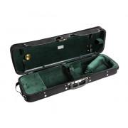 JW-3023-N-011 Футляр для скрипки размером 4/4, деревянный, черный/зеленый, Jakob Winter