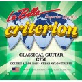 Струны LaBella Criterion Classic, clear nylon, medium, латунь «Golden Alloy» (C750)