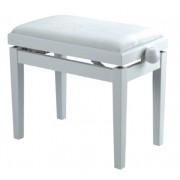 HY-PJ018A-GLOSS-WHITE Банкетка, белый/белый, кожа. Rin