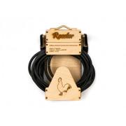 Инструментальный кабель Rooster с угловыми коннекторами Jack 6.3, 5м