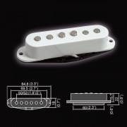 BS-01Bridge-WH Звукосниматель магнитный, сингл, бриджевый, белый, Belcat