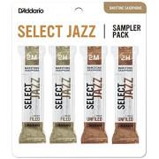DSJ-L2M Select Jazz Набор тростей для саксофона баритон, размер 2M-2H, 4шт, Rico