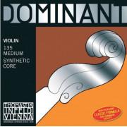 135 Dominant Комплект струн для скрипки размером 4/4, среднее натяжение, Thomastik