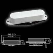 BS-02Neck-WH Звукосниматель магнитный, сингл, нековый, белый, Belcat