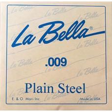 Струна La Bella для гитары 009, сталь (PS009)