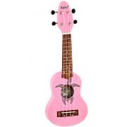 K1-PNK Keiki Укулеле сопранино, розовый, Ortega