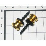 Крепление под стреплоки Schaller золото (2шт)