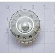 Ручка регулировки GF (Guitar Factory), Серебро KS-110, 1шт