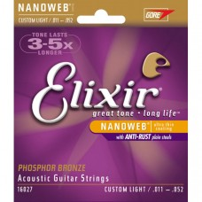 Струны Elixir NanoWeb Phosphor Bronze Acoustic 11-52 (16027)
