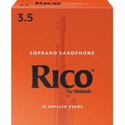 RIA1035 Rico Трости для саксофона сопрано, размер 3.5, 10шт, Rico