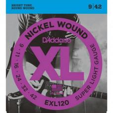 Струны D'Addario Nickel Wound 9-42 (EXL120XL)