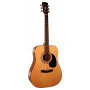 Акустическая гитара Parkwood, цвет натуральный, с чехлом (W81-OP)
