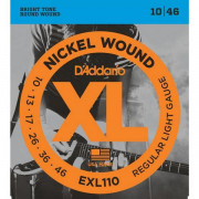 Струны D'Addario Nickel Wound 10-46 (EXL110 XL)