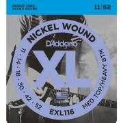 Струны D'Addario Nickel Wound 11-52 (EXL116XL)